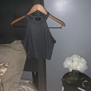 Zara Basic Gray Crop Top
